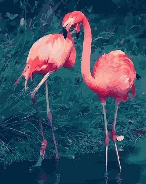 Schilderen op nummer - Roze flamingo's 🎨