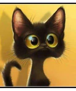 Schilderen op nummer - Geschrokken kat 🐈