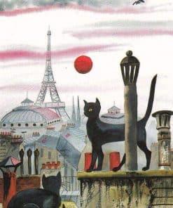 Schilderen op nummer - Kat in Parijs 🐈