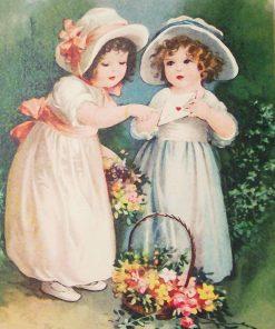 Schilderen op nummer - Bloemen meisjes 💐