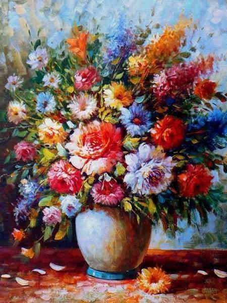 Schilderen op nummer - Prachtige bloemen boeket 💐