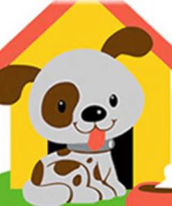 Schilderen op nummer - Hond bij hok 🐶