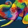 Schilderen op nummer - Abstracte Olifant 🐘