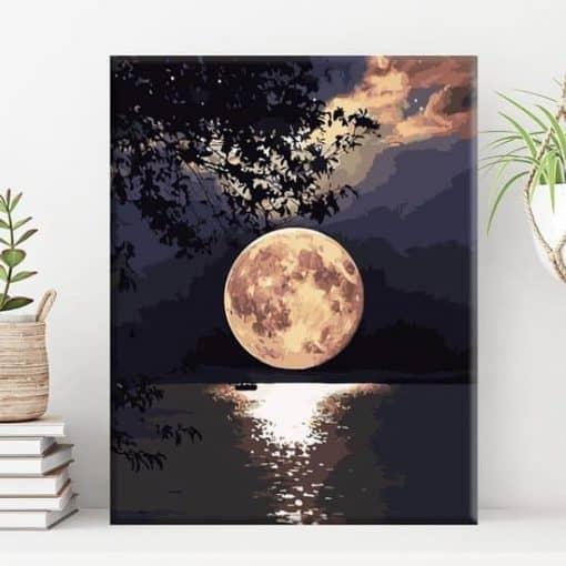 Schilderen op nummer - Volle maan 🌕