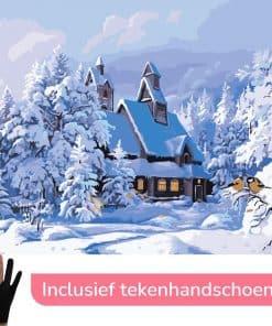 Kerst Winterhuisje