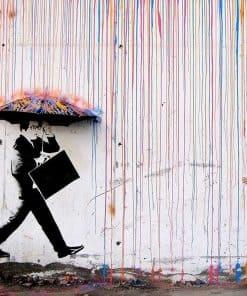Banksy - Kleurenregen