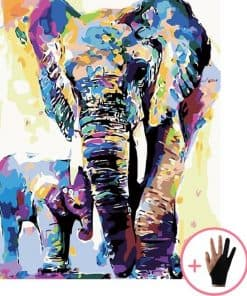 Olifant Met Babyolifant