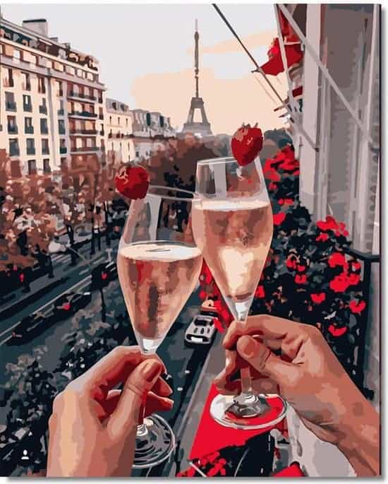 Champagne in Parijs