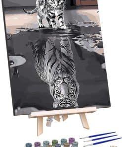 Kat in Spiegelbeeld