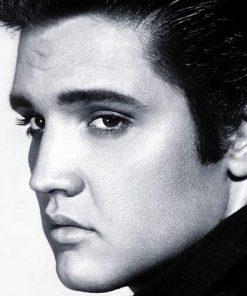 Elvis Presley in zwart wit