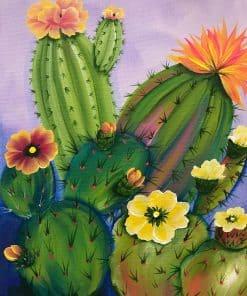 Bloemen en cactussen