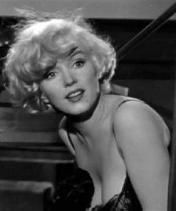Marilyn Monroe portret zwart wit