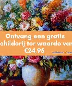 Ontvang een gratis schilderij twv €24,95